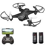 tech rc Mini Drone con Telecamera HD con Due Batterie Funzione di...
