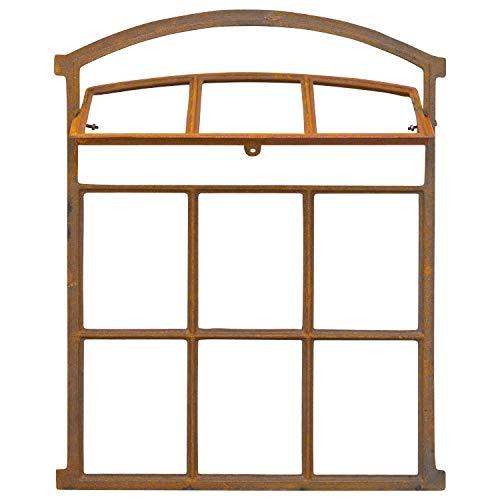 aubaho Fenster zum Öffnen rost Stallfenster Eisenfenster Eisen 71cm Antik-Stil (d2)