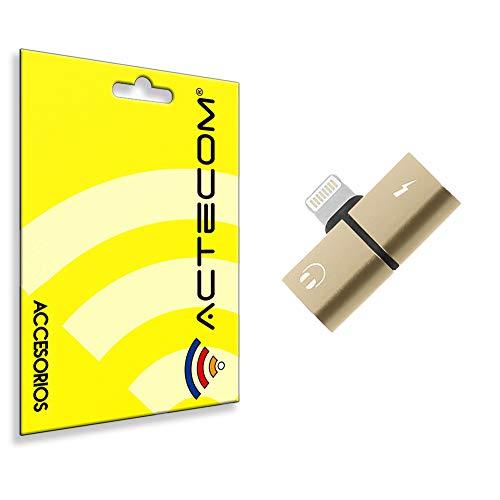 actecom® Adaptador 8 Pin Compatible con iPhone Carga Y Audio Auriculares Cascos SIMULTANEO