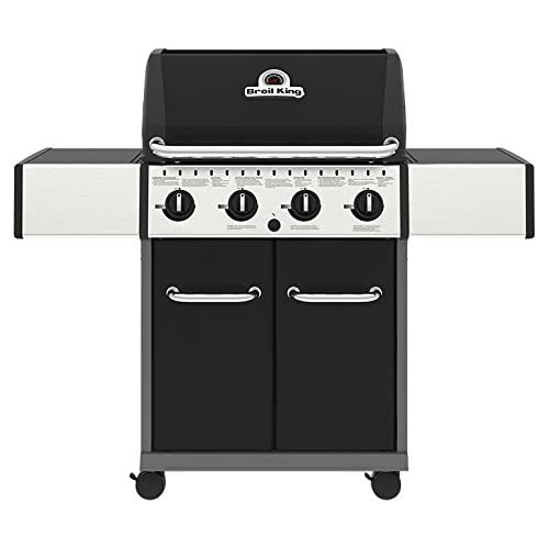 Broil King Crown 420 Gas Barbecue, Black, 135x58x117 cm