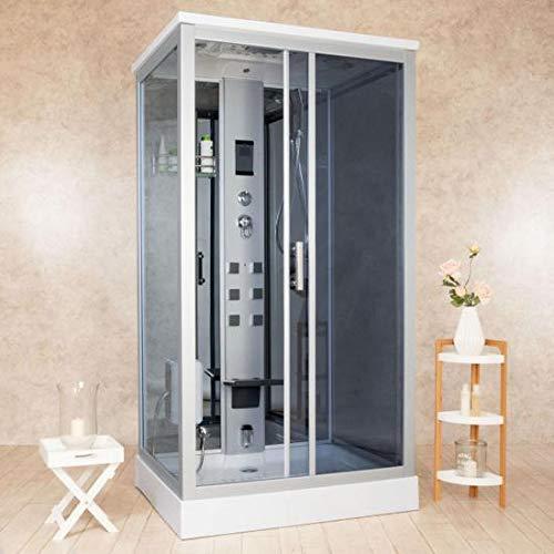 Bagno Italia Cabina de ducha hidromasaje cabina 110 x 90 cm 6 chorros radio masaje plantar