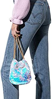 AKIRA Womens Chevron Stitch Oval Shape Zip Around Fanny Pack Belt Bag