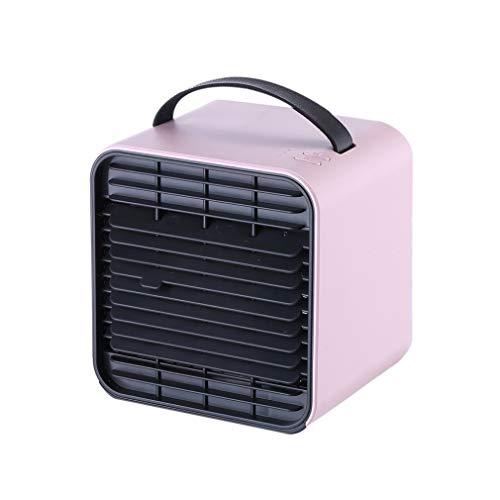 miremaster portatiles Ventilador de Aire Acondicionado de Iones Negativos de Verano Mini Ventilador de Escritorio de Oficina Purificador de Aire Tanque de Agua Ventilador de Mesa (Rosado)