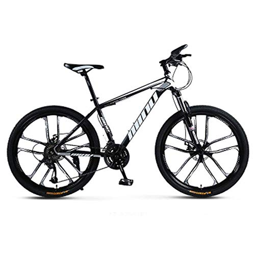 KAUTO MTB Mountain Dirt Bike 26 '', Carbon Steel Mountain Bikes, 21/24/27/30 Speed, Youth and Adult Mountain Bike Mountain Bike with Adjustable Seat B 27 Speed