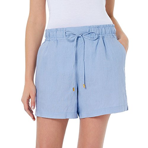 Company Ellen Tracy Women's Drawstring Waist Linen Shorts (Large)
