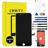 LWMTT Écran Tactile LCD pour iPhone 8 iPhone Se 2020 Noir Vitre De Remplacement LCD Ecran Assemblé avec Outils de Réparation, Verre Trempé