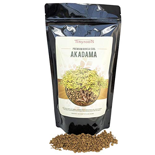 Akadama Bonsai Soil by Tinyroots - Sifted Through 1/16 Mesh, Dust and Small Particles Removed, Used for Bonsai and Succulents, 2 Quarts