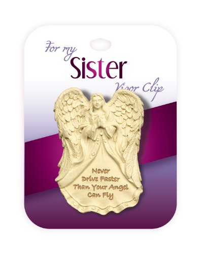 AngelStar 2-1/4-Inch Tall Family Visor Clip, Sister Sentiment