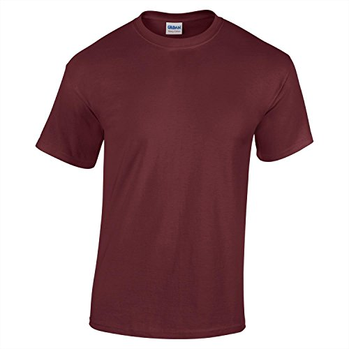 Gildan Heavy Cotton Youth T-Shirt- Maroon - XL