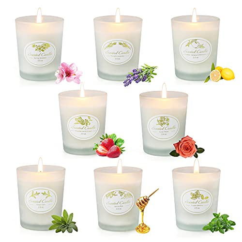 8 Pack Scented Candles Gifts Set for Women, 2.5 oz Each Aromatherapy Candle Sets with Natural Soy Wax for Valentine's Day Bath Yoga Gifts for Birthday Christmas Mother's Day Clearance Candles