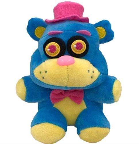 Plush Toys 18cm Five Nights at Freddy's Phantom Foxy Stuffed Doll Kids Great Gifts- 18cm Yellow Blue Bear Gift Toy