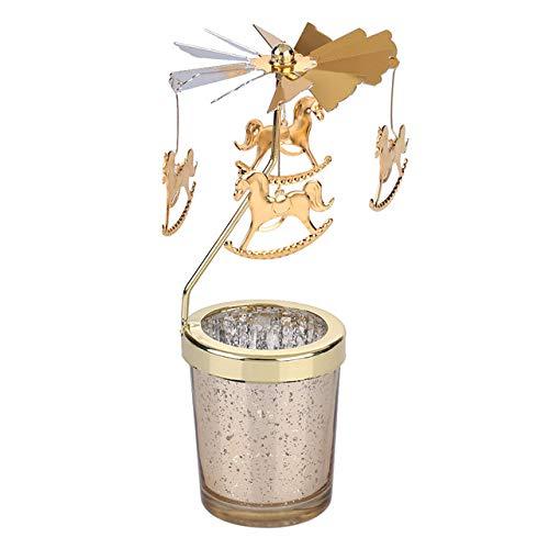 Bumpy Road Candlestick Metal Deer Party Romantische Windmühle Kerzenhalter hängen Teelicht drehen Hochzeit Home Decor Weihnachten