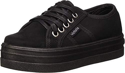 Victoria Blucher Antelina Plataforma, Zapatillas Mujer, Negro, 37 EU