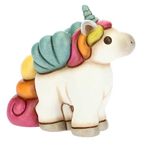 THUN - Soprammobile Unicorno in Posa Multicolore - Accessori per la Casa - Linea Unicorno - Formato Piccolo - Ceramica - 10,2 x 5,1 x 9,3 h cm