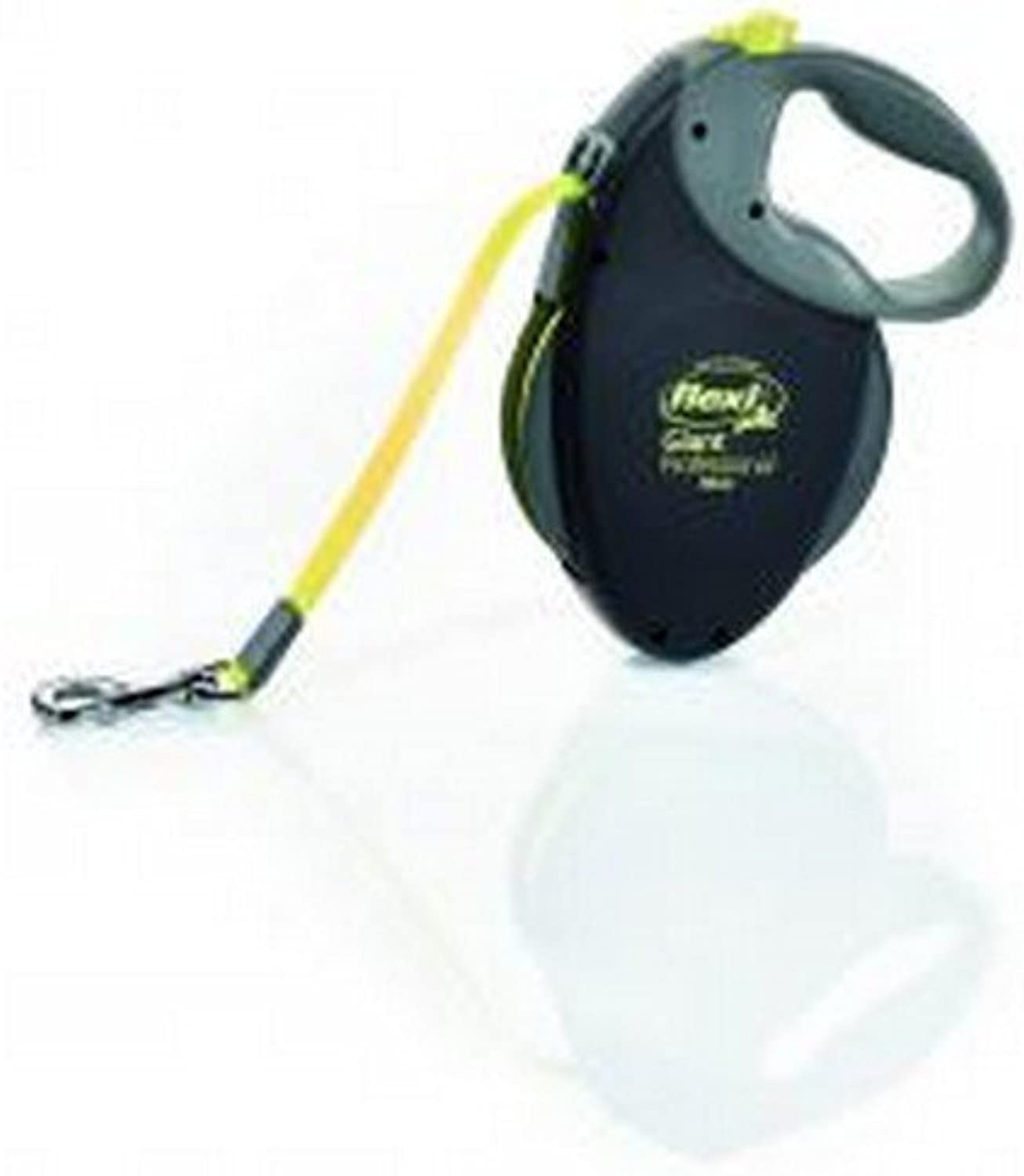 FlexiBogd Giant Professional Large Black With Neon Tape Dog Lead (10M)