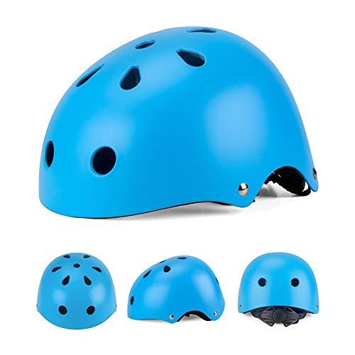 WEZER OTY Kinder Jugend Fahrradhelm Beschützer 2.0 CE-Zertifizierung für Sport Skateboard Motorrad 3-13 Alt,E. Blue