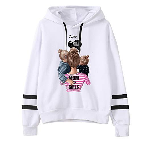 QingJiu Damen Sweatshirt, Herbst und Winter Das Erntedankfest Kapuzenpullover Drucken Langarm Streetwear Pullover Shirt Blusen