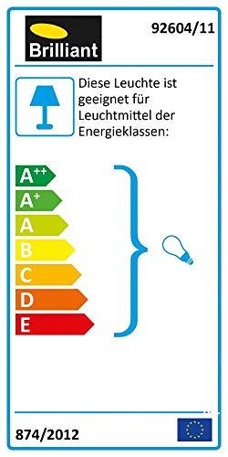 Brilliant AG 92604/11 Lampe de Bureau Métal/Plastique 40 W E14 Argent