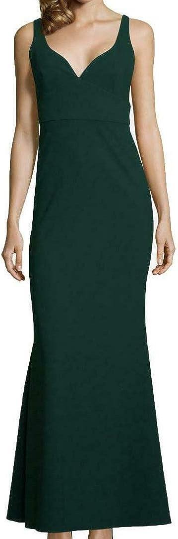 Betsy & Adam Women's V-Neck Gown