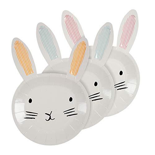 Meri Meri Bunny Shaped Easter Plates