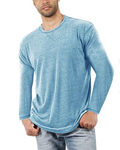 (50% OFF) Men Long Sleeve Casual T-Shirt $13.49 – Coupon Code