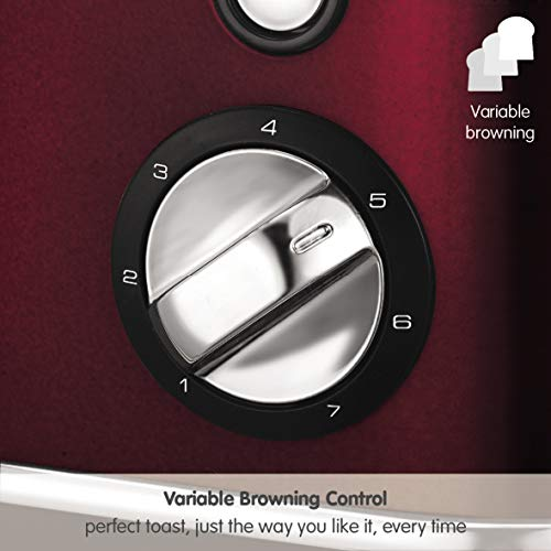 Morphy Richards Evoke Grille-Pain 4 Part(s) Rouge 850 W Evoke Evoke, 4 Part(s), Rouge, Boutons, Rotatif, Chine, 850 W, 270 mm