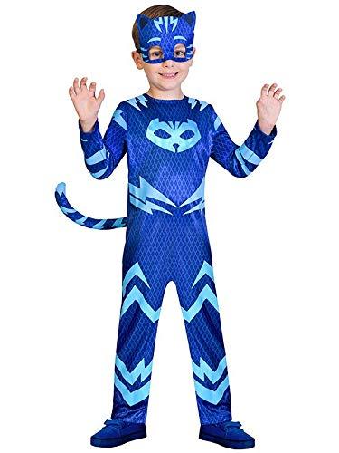 DISBACANAL Disfraz Gatuno PJ Masks para niño - -, 7-8 años