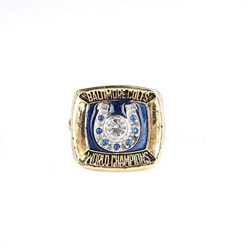 Rugby 1970 Indianapolis Colts Championship Ring Meisterschaft Ringe, Champion Ring Replica für Fans Herren Geschenkideen,with Box,11