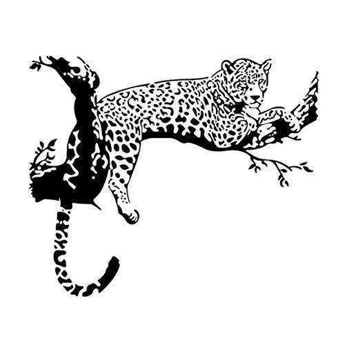 SeniorMar-UK Abnehmbare Home Vinyl Fenster Wandaufkleber Home Decor Exquisite Leopard