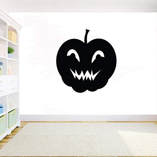 yaonuli Halloween kreative Kürbiskopf schwarz Kunststoff Wandapplikation Halloween Gespenst Kürbis Wandaufkleber Dekoration Fensteraufkleber 60X57cm