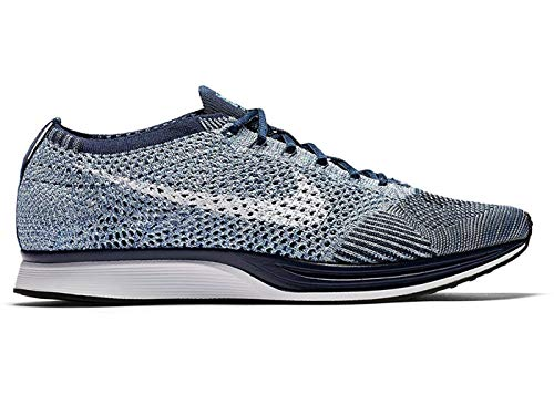 NIKE Flyknit Racer Mens Running Trainers 862713 Sneakers Shoes (UK 6.5 US 7.5 EU 40.5, Blue Tint White 401)