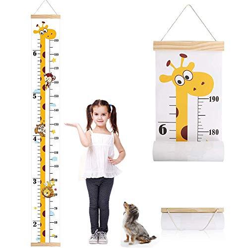 Niños Tabla de Crecimiento, Regla de Tabla de Registro de Altura Extraíble y Enrollable (Para Niños y Niñas), Regla de Medición de Altura Flexible 7.9x 79 Pulgadas
