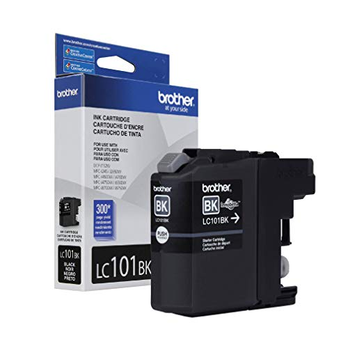 Brother Genuine Standard Yield Black Ink Cartridge, LC101BK, Replacement Black Ink, Page Yield Upto 300 Pages, LC101 Alabama