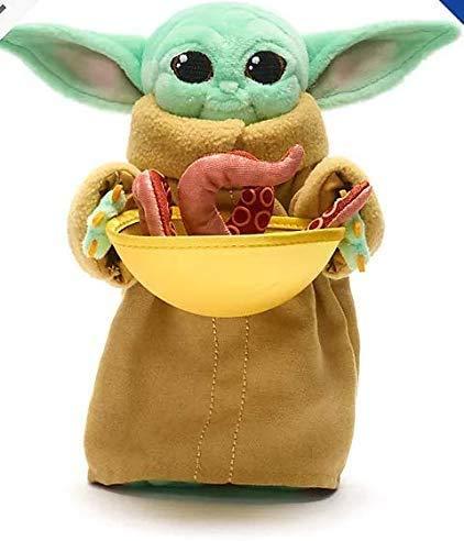 Mandalorian Disney l'enfant Grogu avec Pouf Squid Peluche Douce Bébé Yoda 19cm