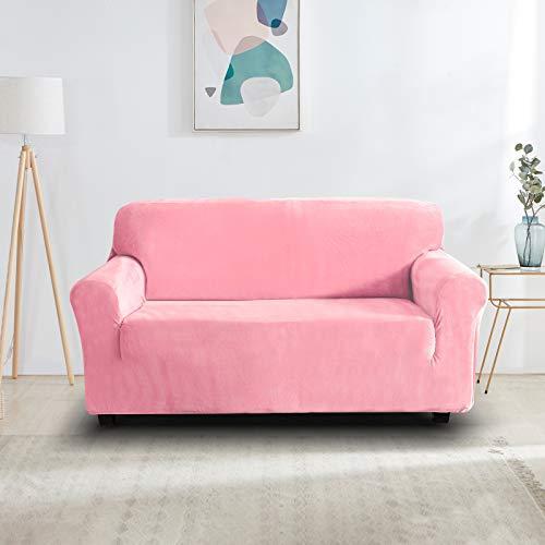 Funda de sofá rosa elástica