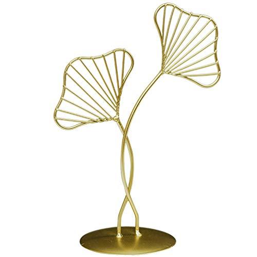 Toyvian Ornamento de folhas de metal Ginkgo escultura de arte vintage para decoração de mesa de casamento para casa P