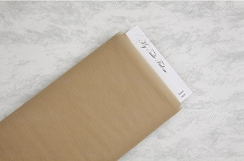 """Matte Tulle On Bolt Of 54"""" X 40 Yd 100% Nylon Our Tulle is Flame Retardant and Metal Free (Toast)"""