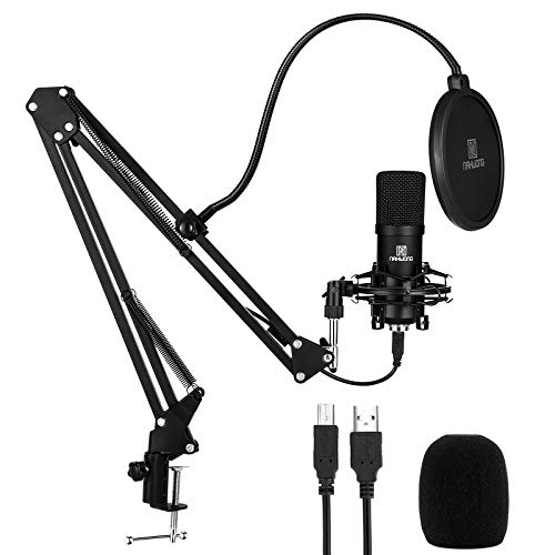 USB Microphone for PC, NAHWONG Professional 192KHz/24Bit Condenser Recording Mic Kit for Podcast, Recordings for YouTube, Streaming,Gaming, Recording Music, Voice Over, Livestreaming