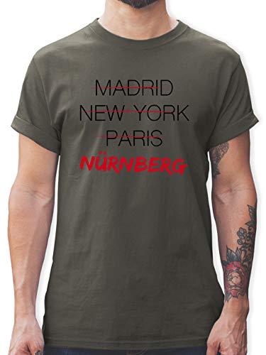 Städte & Länder - Weltstadt Nürnberg - XL - Dunkelgrau - Deutschland - L190 - Tshirt Herren und Männer T-Shirts