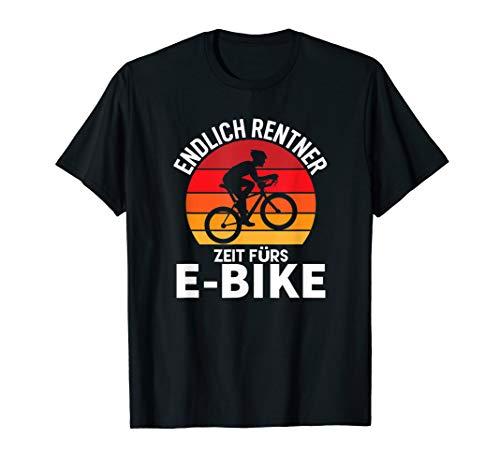 Pedelc Rentner Fahrradmotiv Lustig Elektro Biker Alter Mann T-Shirt
