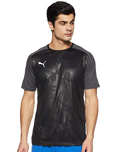 PUMA Herren Cup Training Jersey Core T-Shirt, Black-Asphalt, 3XL