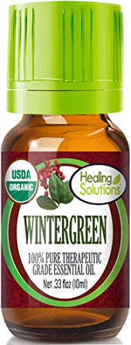 Organic Wintergreen Essential Oil (100% Pure - USDA Certified Organic) Best Therapeutic Grade Essential Oil - 10ml