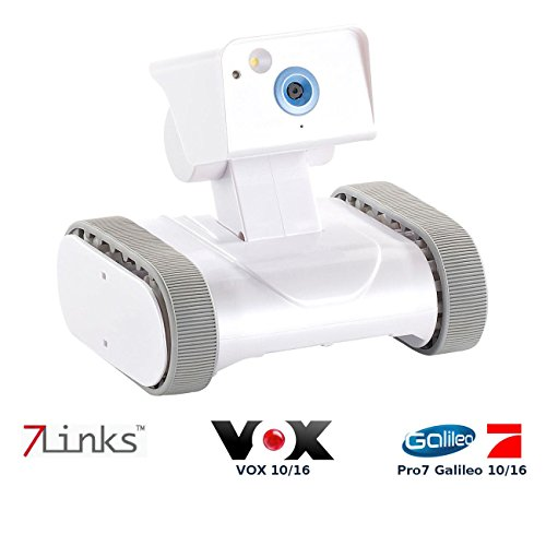 7links Home Security Roboter: Home-Security-Rover HSR-1 mit HD-Video, weltweit fernsteuerbar (Fahrbare WLAN Kamera)