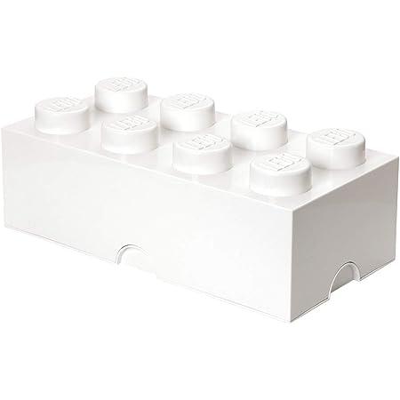 Légo 40041735 Brique de rangement empilable 8, Plastique, blanc, 0 cm