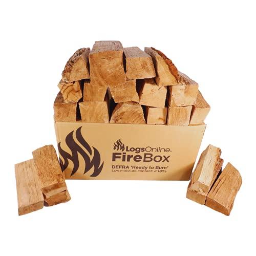 Holzscheite für Feuerstelle, 20 kg/60 l, für Pizzaöfen, Kamin, Grill, ofengetrocknetes Hartholz unter 20 % Feuchtigkeit. Feuerscheite, 25 cm
