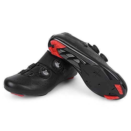 Changor Ciclismo Zapatos, Respirable A Prueba de Viento Bicicleta Sobres Noche Montando Cuero y Nylon Montando Zapatos por Ciclismo Entusiastas