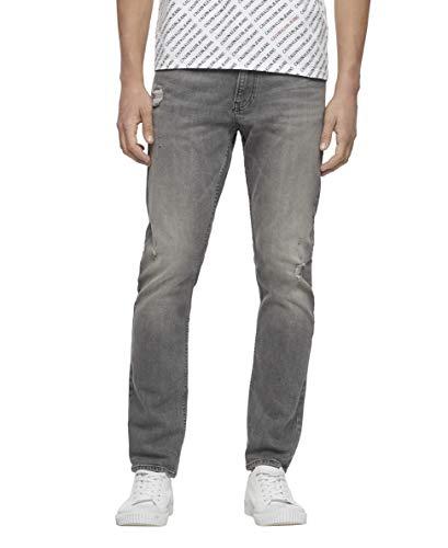 Calvin Klein Herren Slim Fit Jeans, Mohawk Grau, 30 W/32 L