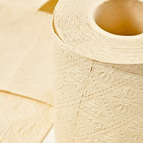 bambuswald© nachhaltiges Toilettenpapier aus 100% Bambus | 8x Rollen á 200 Blatt - 3 lagig sanft trocken & angenehm weich | holzfreies Klopapier in plastikfreier Verpackung | WC-Papier Toilet Paper - 3
