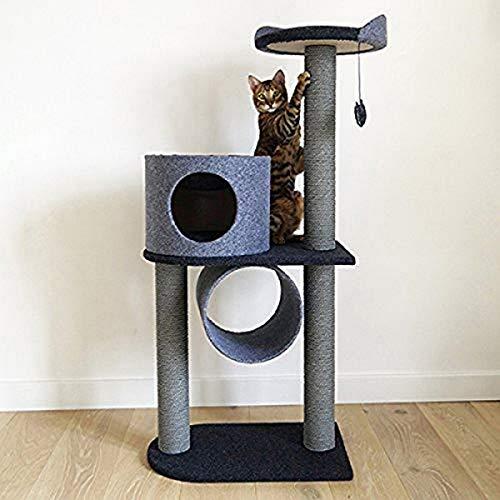 Rosewood 40149 Stylischer Und Moderner Katzen-Kratzbaum Anthrazit Aus Filz Und Sisal