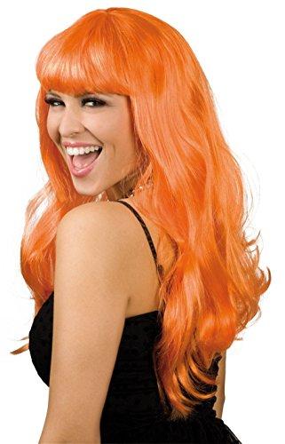 Perruque Glamour Orange - Taille Unique